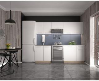 Kuchyňa Daria 240 - biela / dub sonoma