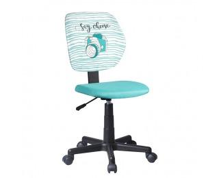 Detská stolička na kolieskach Blues - mentolová / vzor / čierna