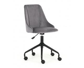 Detská stolička na kolieskach Break - tmavosivá / čierna