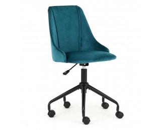 Detská stolička na kolieskach Break - tmavozelená / čierna