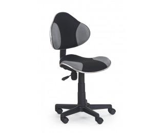 Detská stolička na kolieskach Flash - čierna / sivá