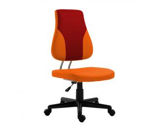 Detská stolička na kolieskach Randal - oranžová / červená / čierna