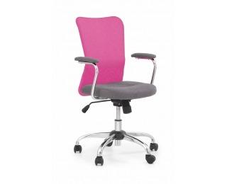 Detská stolička na kolieskach s podrúčkami Andy - ružová / sivá