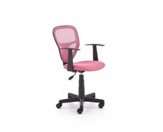 Detská stolička na kolieskach s podrúčkami Spiker - ružová / čierna