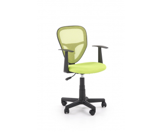 Detská stolička na kolieskach s podrúčkami Spiker - zelená / čierna