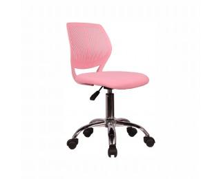 Detská stolička na kolieskach Selva - ružová / chróm