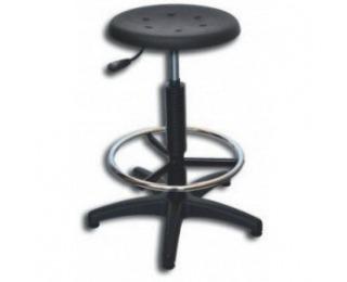 Dielenská stolička s chrómovou opierkou na nohy 06-3171 - čierna