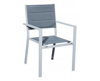 Hliníková záhradná stolička Diverso - sivá