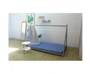 Drevená jednolôžková posteľ s roštom Grosi 90 - sivá