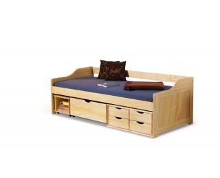 Drevená jednolôžková posteľ s roštom Maxima 2 90 - borovica
