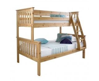 Drevená poschodová posteľ s roštami Luini 90 - prírodná