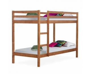 Drevená poschodová posteľ s roštami Verso 90 - svetlohnedá