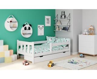 Drevená posteľ s prísteľkou Marinella 90 - biela