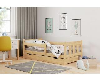Drevená posteľ s prísteľkou Marinella 90 - prírodná