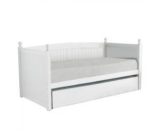 Drevená rozkladacia posteľ s prísteľkou Glamis 90 - biela