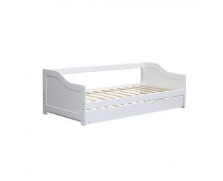 Drevená rozkladacia posteľ s prísteľkou Intro 90 - biela