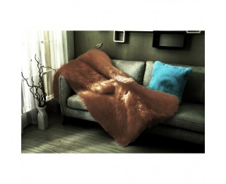Kožušinová deka Ebona Typ 3 150x170 cm - hnedá