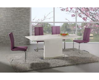 Jedálenský stôl Elias - biely lesk