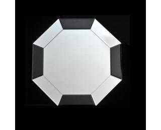 Zrkadlo na stenu Elison Typ 14 - čierna / biela