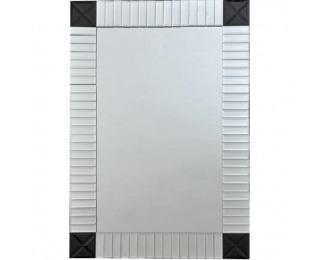 Zrkadlo na stenu Elison Typ 3 - strieborná / čierna