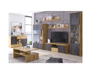 Obývacia izba Eridan - dub artisan / sivý betón