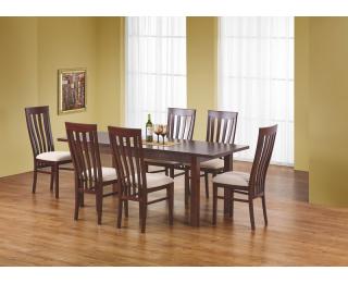 Rozkladací jedálenský stôl Ernest 160/200 - tmavý orech