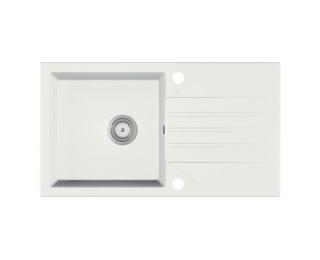 Granitový kuchynský drez Evinion 77,5x43,5 cm - biela