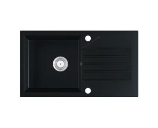 Granitový kuchynský drez Evinion 77,5x43,5 cm - čierna