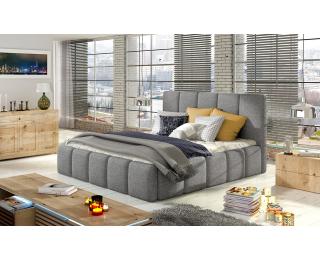 Čalúnená manželská posteľ Evora 140 - svetlosivá