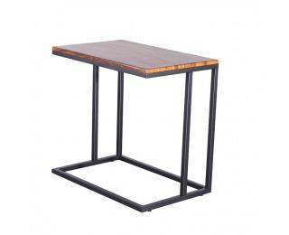 Príručný stolík Ezel - orech / čierna