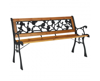 Záhradná lavička Faiza - čierna / prírodná