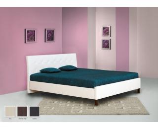 Čalúnená manželská posteľ Felicia 180 - hnedá