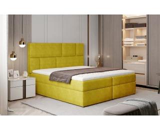 Čalúnená manželská posteľ s úložným priestorom Ferine 165 - žltá