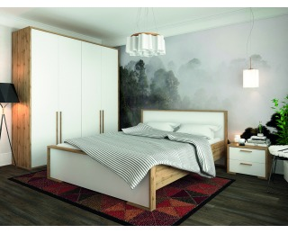 Spálňa Finni - dub wotan / biela