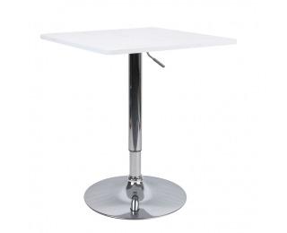 Barový stôl Florian New - biela / chróm