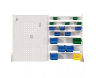 Nadstavba k pracovnému stolu s lištami na boxy FNSS02/2T2L - svetlosivá