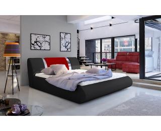 Čalúnená manželská posteľ s roštom Folino 140 - čierna / červená