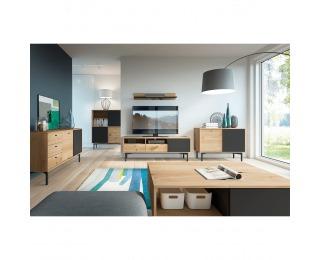 Obývacia izba Forso - dub artisan / čierna
