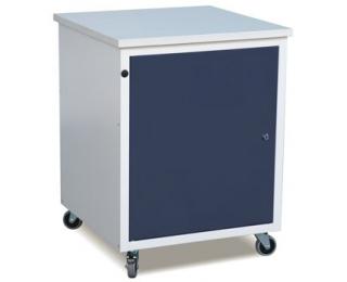 Mobilná dielenská skrinka na kolieskach FSPO1P/Z - sivá / grafit