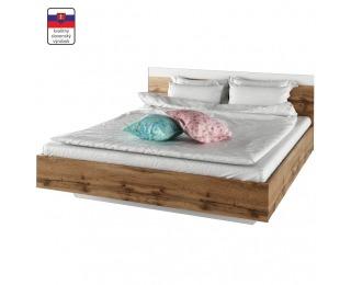Manželská posteľ Gabriela 160 - dub wotan / biela