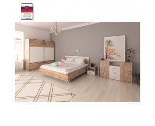 Spálňa Gabriela 160 - dub wotan / biela