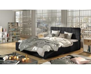 Čalúnená manželská posteľ s roštom Galimo 160 - čierna