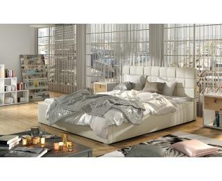 Čalúnená manželská posteľ s roštom Galimo UP 200 - béžová