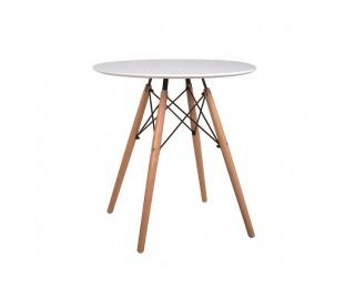 Okrúhly jedálenský stôl Gamin 60 - biela / buk
