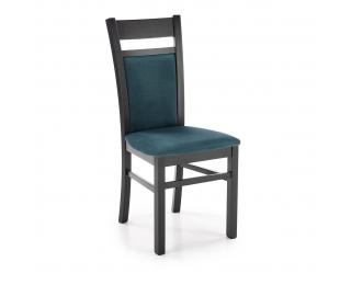 Jedálenská stolička Gerard 2 - čierna / tmavozelená