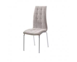 Jedálenská stolička Gerda New - béžová / chróm