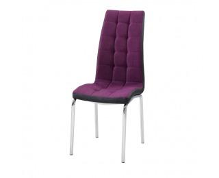 Jedálenská stolička Gerda New - fialová / čierna / chróm