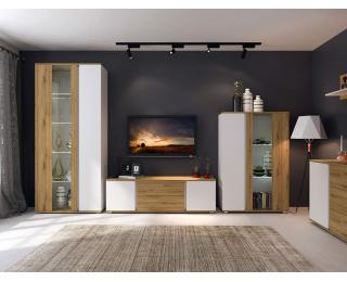 Obývacia izba Giovanni - dub artisan / biela