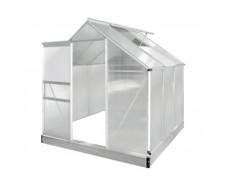 Záhradný skleník Glasshouse 190x190x195 cm - priehľadná