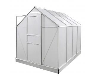Záhradný skleník Glasshouse 250x190x195 cm - priehľadná